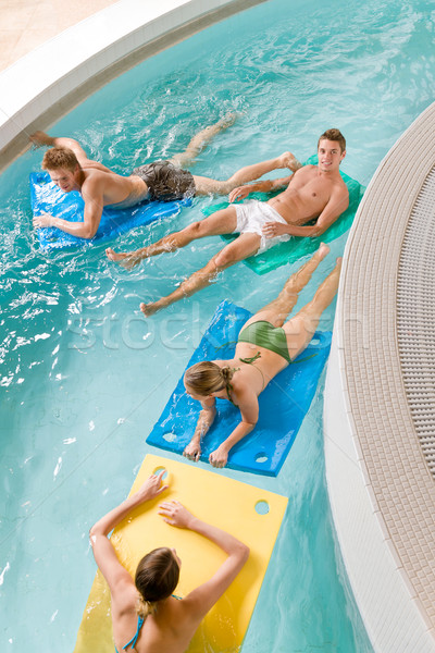 Swimming pool - young people have fun Stock photo © CandyboxPhoto