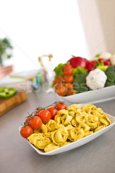 Italian food - pasta, tomato, ingredients for cooking  Stock photo © CandyboxPhoto