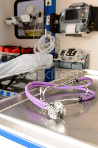 Stethoscope inside of an empty EMS car Stock photo © CandyboxPhoto