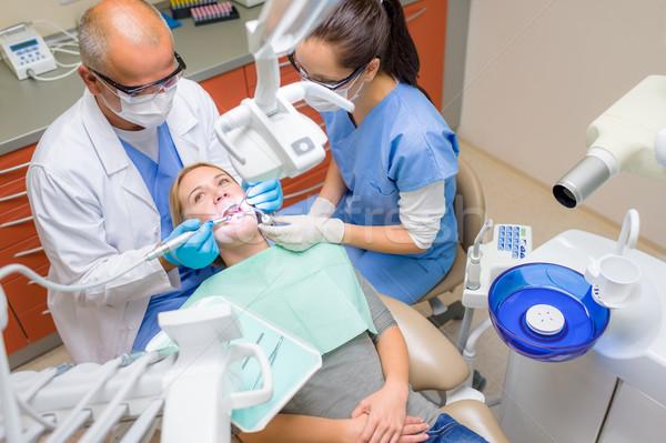 Dental dentista cuidar feminino paciente Foto stock © CandyboxPhoto