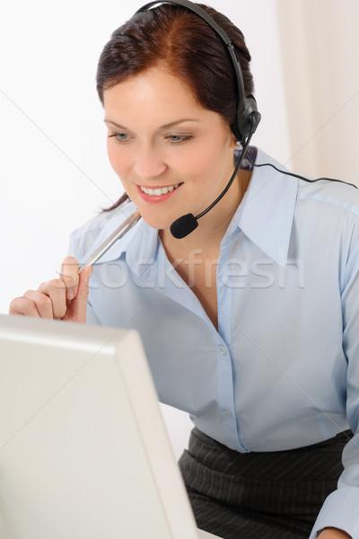 Professional call center representative woman Stock photo © CandyboxPhoto