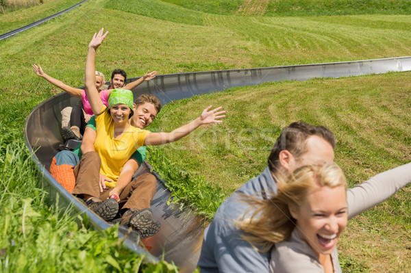 興奮した カップル 高山 コースター 小さな ストックフォト © CandyboxPhoto