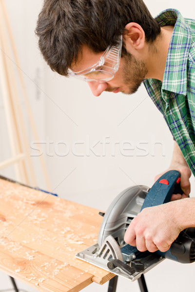 Home improvement klusjesman gesneden hout workshop Stockfoto © CandyboxPhoto