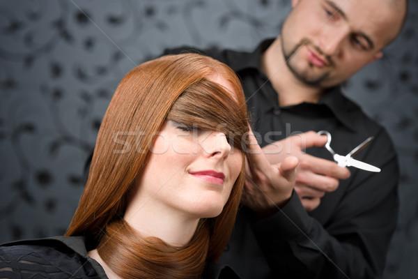 Foto stock: Profesional · peluquero · moda · modelo · lujo · salón