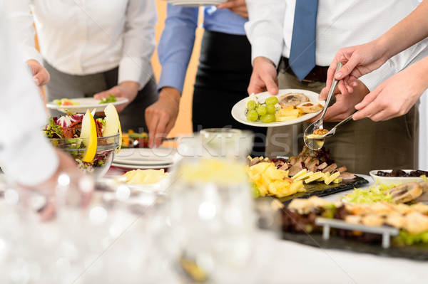 Business catering food for company celebration Stock photo © CandyboxPhoto