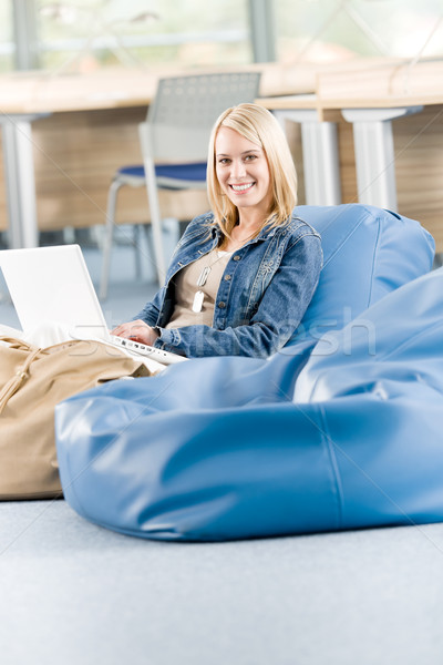 Young happy high-school student relax with laptop Stock photo © CandyboxPhoto