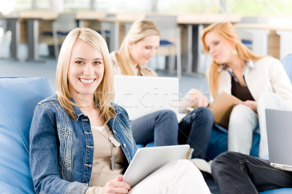 Stock photo: Group of young students at high school