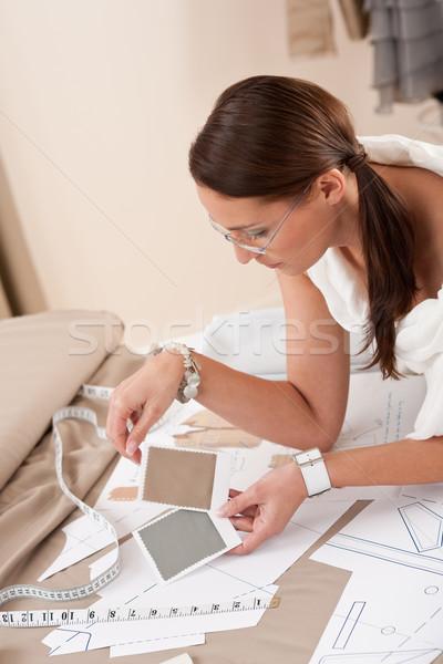 Zdjęcia stock: Kobiet · moda · projektant · pracy · studio