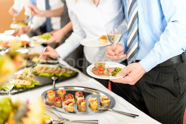 Gens d'affaires buffet restauration affaires Photo stock © CandyboxPhoto