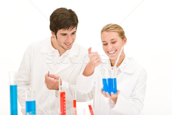 Tudósok laboratórium teszt vegyszerek tesztelés vírus Stock fotó © CandyboxPhoto