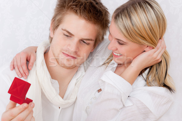 Coppia amore anello di fidanzamento romantica donna uomo Foto d'archivio © CandyboxPhoto