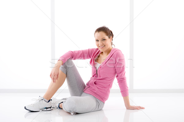 Fitness happy woman sportive outfit Stock photo © CandyboxPhoto