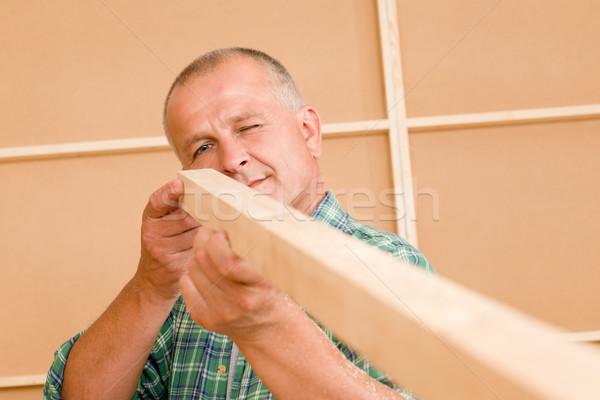 Stok fotoğraf: El · ulağı · olgun · marangoz · ölçmek · ahşap