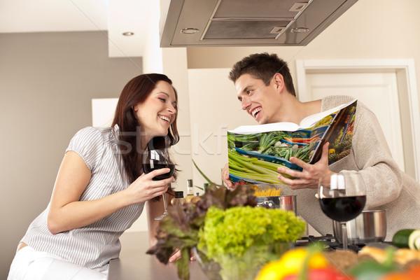 Mutfak yemek kitabı içme Stok fotoğraf © CandyboxPhoto