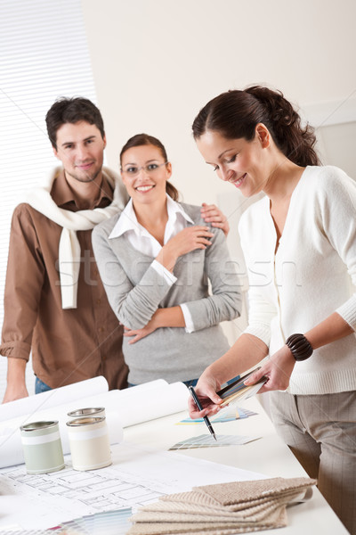 Female interior designer with two clients at office  Stock photo © CandyboxPhoto