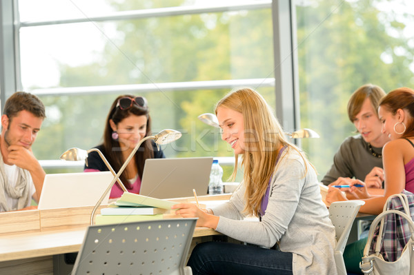 High- school students studying in library together Stock photo © CandyboxPhoto