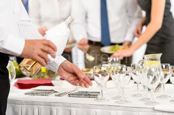 Business buffet lunch wijn voorgerechten bedrijf Stockfoto © CandyboxPhoto