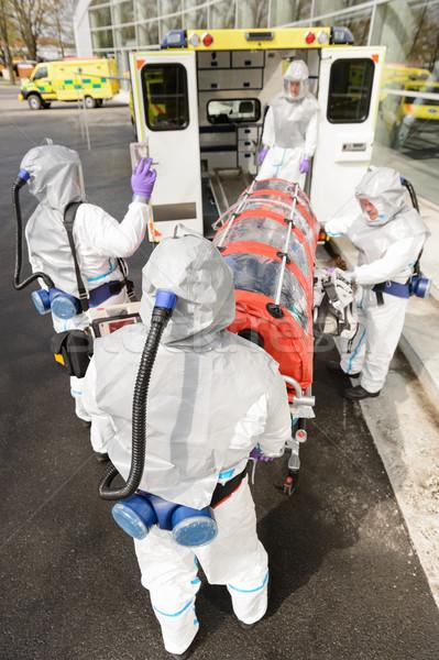 Bioveszély csapat mentő orvosi beteg beteg Stock fotó © CandyboxPhoto