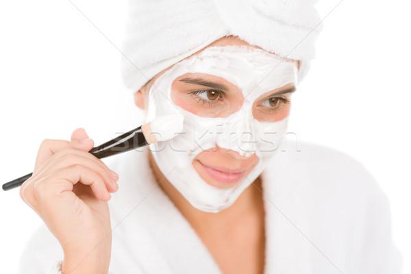 Tinédzser probléma bőrápolás nő maszk szépség Stock fotó © CandyboxPhoto