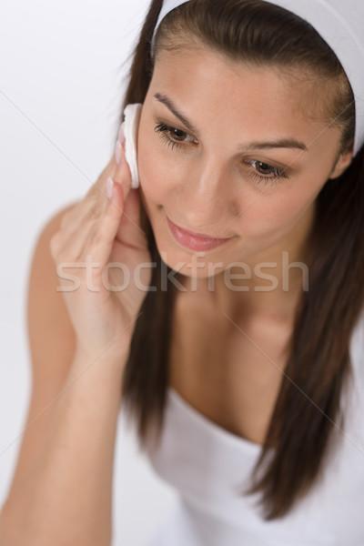 Schoonheid tiener vrouw schoonmaken acne Stockfoto © CandyboxPhoto
