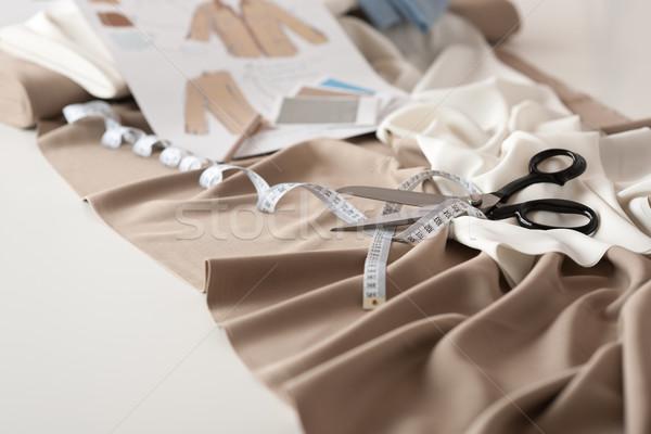 Stock photo: Fashion designer studio with professional equipment