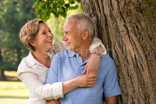 Glücklich Rentner Paar Freien Stock foto © CandyboxPhoto