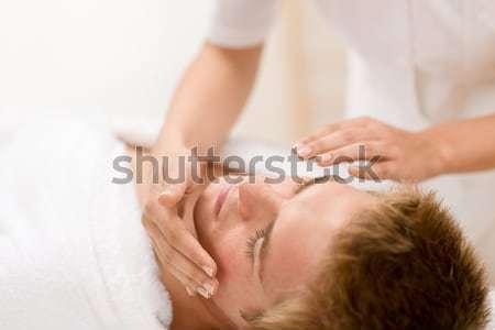 ストックフォト: 男性 · 化粧品 · 洗浄 · 顔 · 治療 · 高級