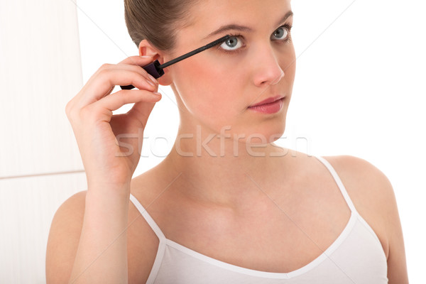 Body care series - young woman applying mascara Stock photo © CandyboxPhoto