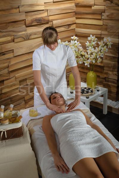 Masszázs kezelés nő luxus fürdő fiatal Stock fotó © CandyboxPhoto