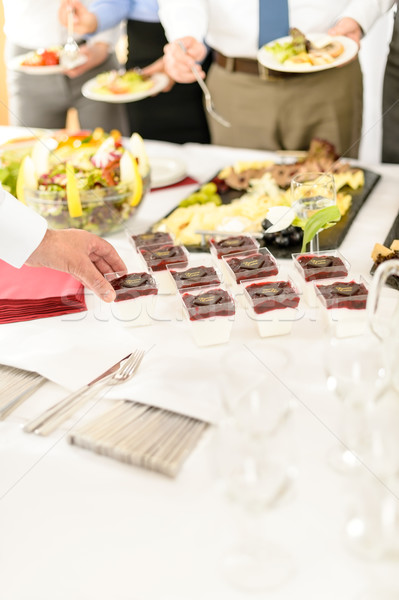 Catering mini dessert at business buffet table Stock photo © CandyboxPhoto