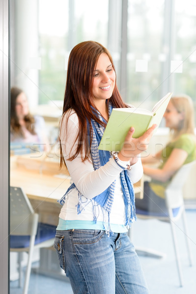 Young student girl reading book at high-school Stock photo © CandyboxPhoto