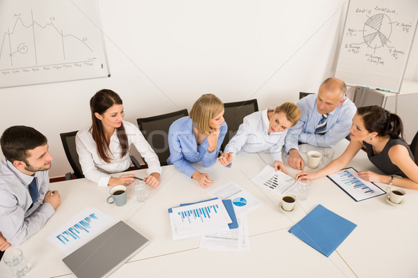 Business Team Discussing In Meeting Stock photo © CandyboxPhoto