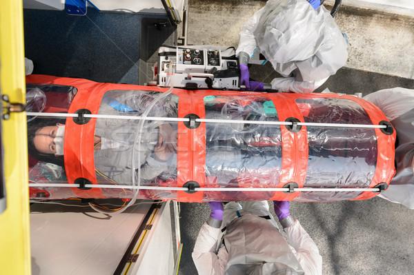 患者 バイオハザード チーム 救急 緊急 ストックフォト © CandyboxPhoto