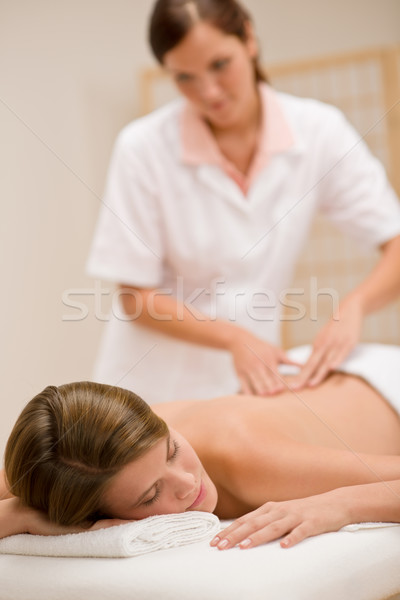 Body care - woman back massage Stock photo © CandyboxPhoto