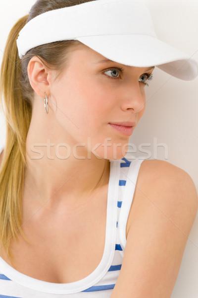 Photo stock: Sport · jeune · femme · été · fitness · portrait · sourire