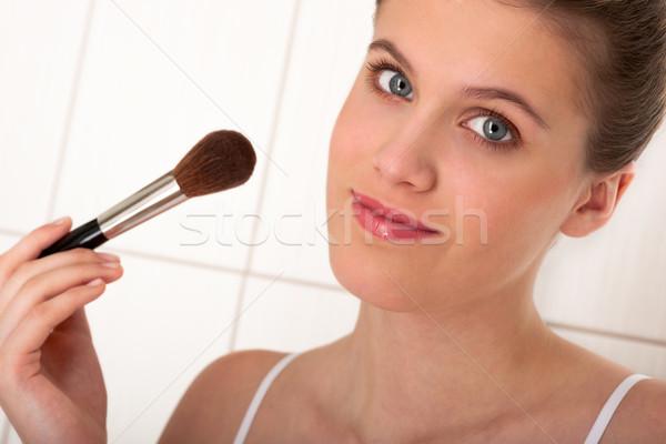 Foto stock: Cuerpo · atención · mujer · polvo · primer · plano