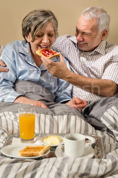 Сток-фото: старший · человека · завтрак · женщину