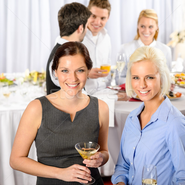 Business people at catering buffet company event Stock photo © CandyboxPhoto
