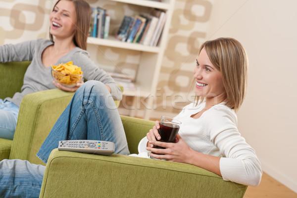 Estudantes dois sorridente feminino adolescente Foto stock © CandyboxPhoto