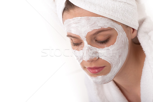 Body care series - Beautiful woman with facial mask Stock photo © CandyboxPhoto