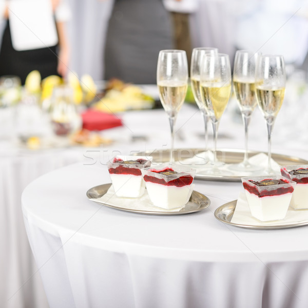 Desserts and Champagne for meeting participants Stock photo © CandyboxPhoto