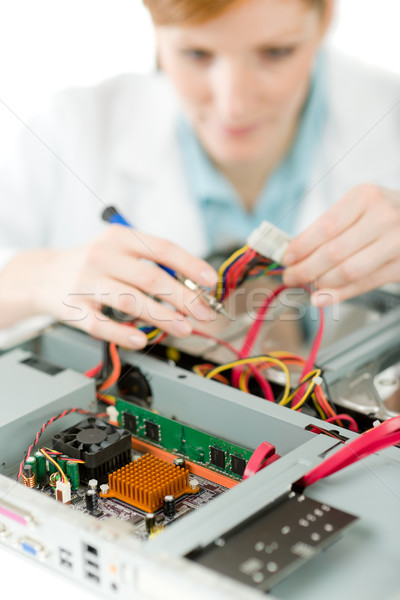 Female support computer engineer - woman repair Stock photo © CandyboxPhoto