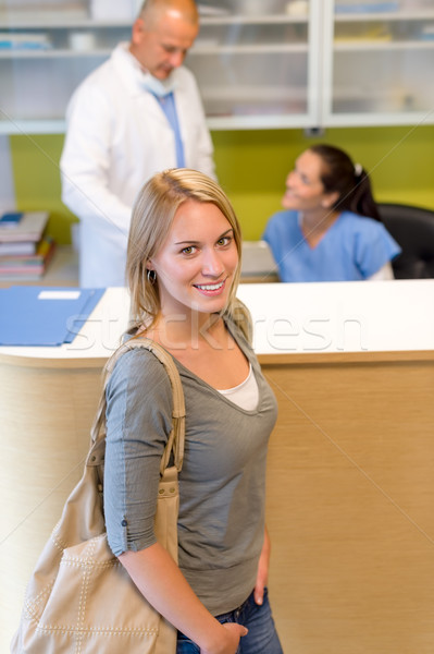 Female patient at the dentist reception Stock photo © CandyboxPhoto