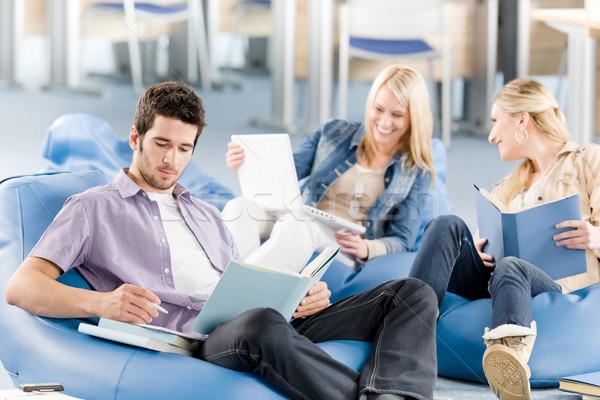 группа студентов книгах сидят молодые Сток-фото © CandyboxPhoto