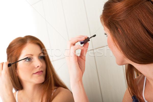 Lichaam zorg mooie jonge vrouw mascara Stockfoto © CandyboxPhoto