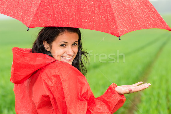 Lively teenager girl in the rain Stock photo © CandyboxPhoto