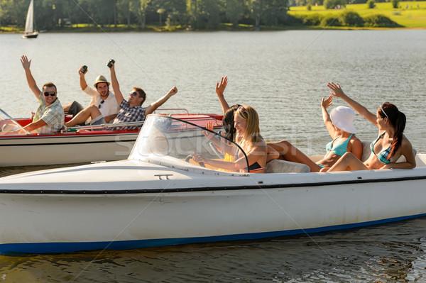 Amigos sessão verão jovem Foto stock © CandyboxPhoto