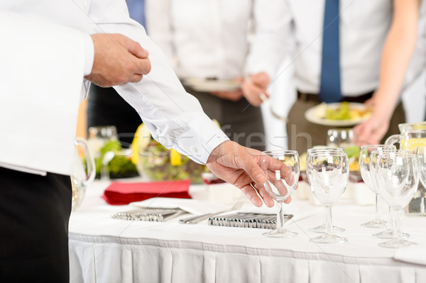 Business catering glasses for company celebration Stock photo © CandyboxPhoto