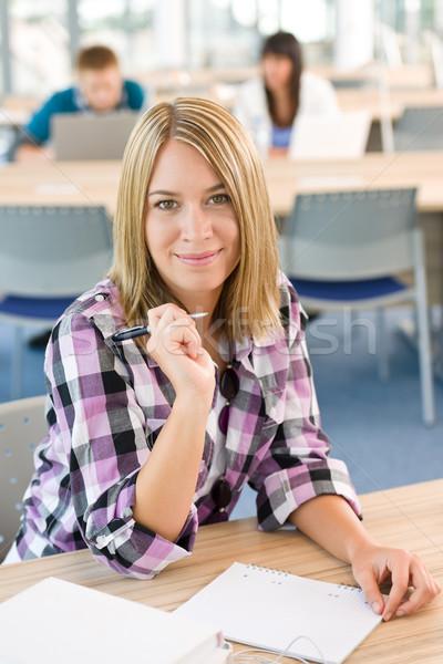 счастливым улыбаясь студент исследование классе университета Сток-фото © CandyboxPhoto