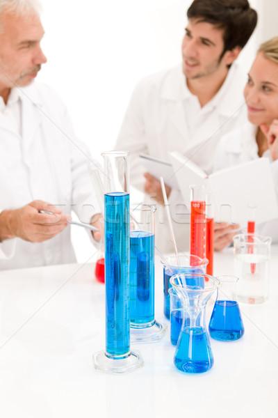 Equipe cientistas laboratório médico pesquisa azul Foto stock © CandyboxPhoto